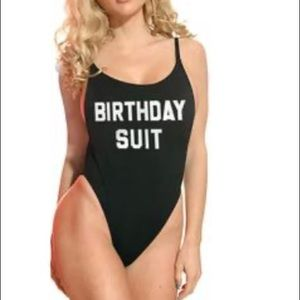 Dippin Daisys birthday suit black one piece